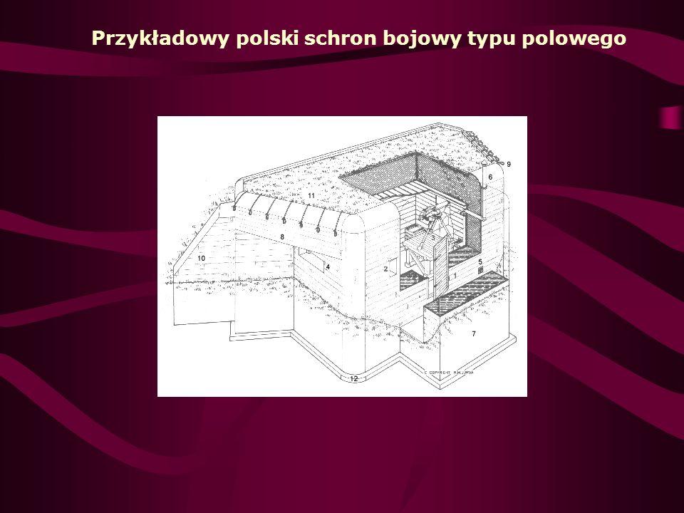 .: Opis schematu 1 - wejście do schronu; 2 - taboret; 3 - stół obserwacyjny; 4 - wnęki obserwacyjne; 5 - stół; 6 - piec; 7 - wylot kominka;.: Wybudowano [1] : na pozycji Skoczów [1] - IV