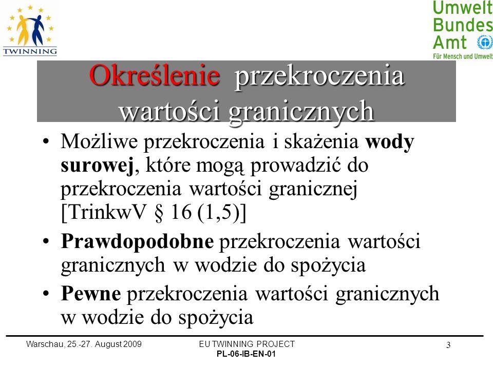 Warschau, 25.-27.August 2009EU TWINNING PROJECT PL-06-IB-EN-01 34 Substancja CYJANEK przewl..