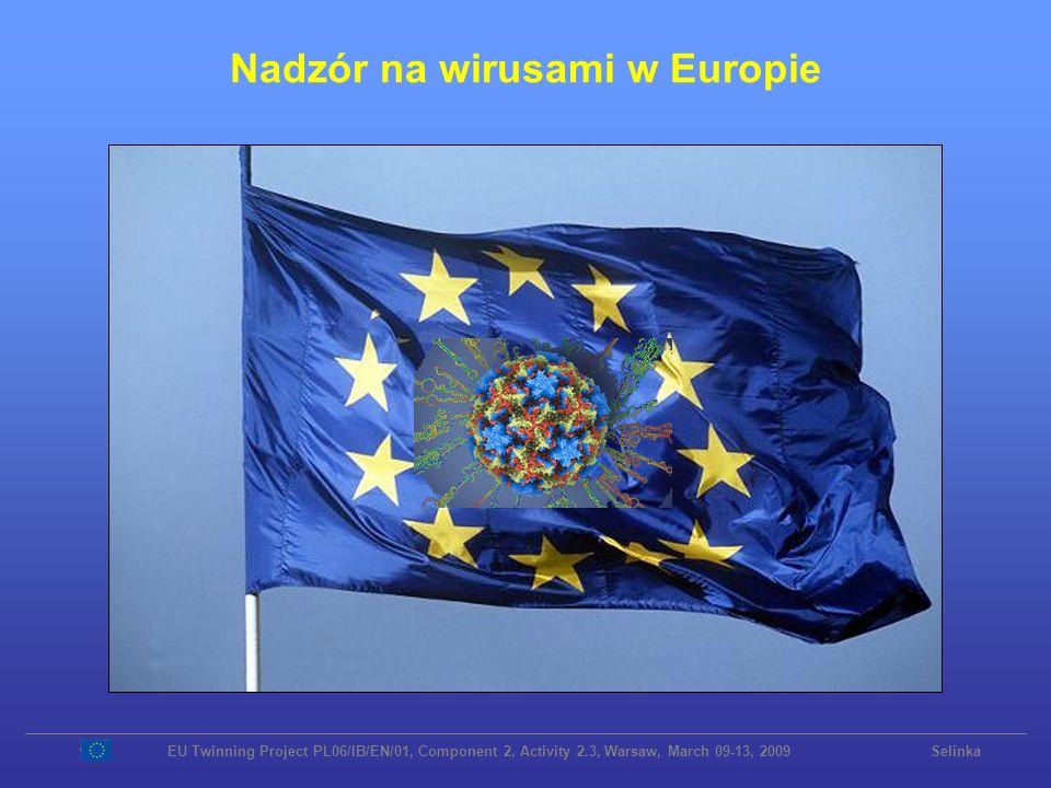 Nadzór na wirusami w Europie EU Twinning Project PL06/IB/EN/01, Component 2, Activity 2.3, Warsaw, March 09-13, 2009 Selinka