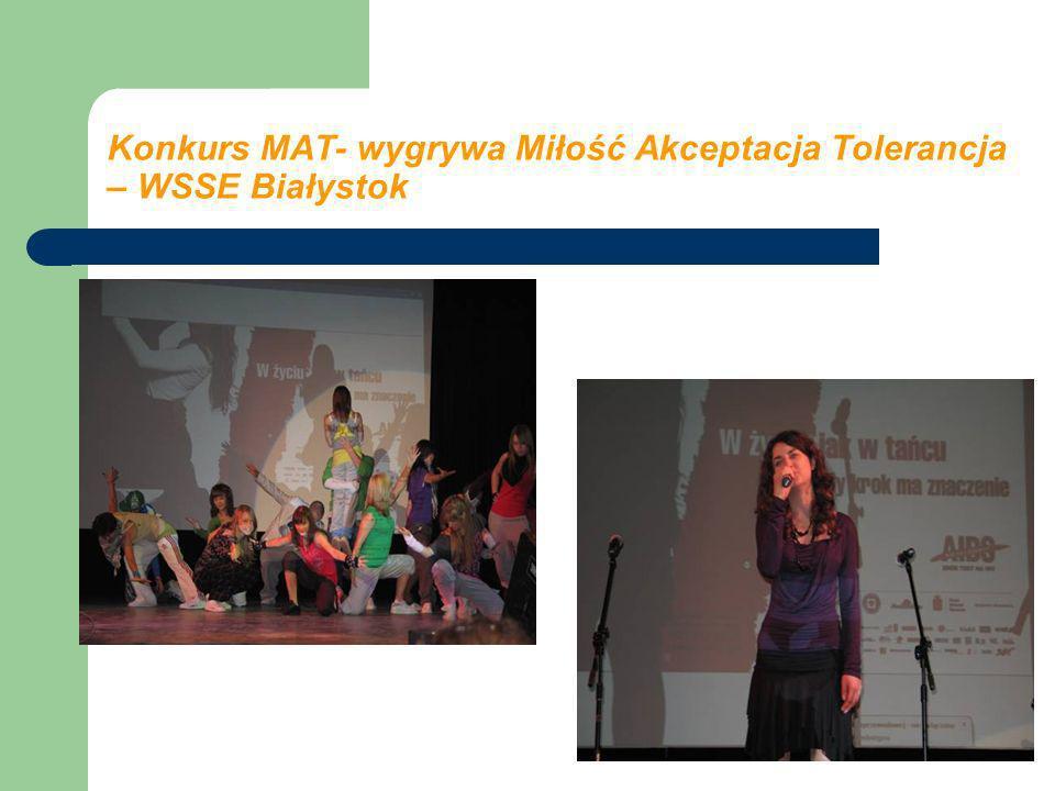 Konkurs MAT- wygrywa Miłość Akceptacja Tolerancja – WSSE Białystok
