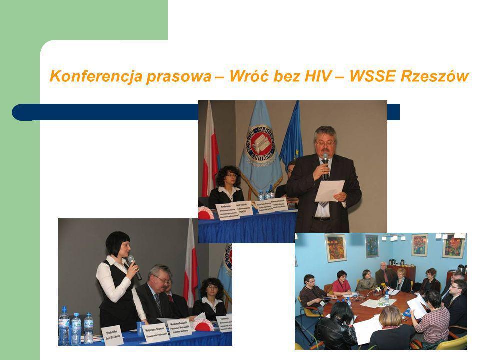 Konferencja prasowa – Wróć bez HIV – WSSE Rzeszów