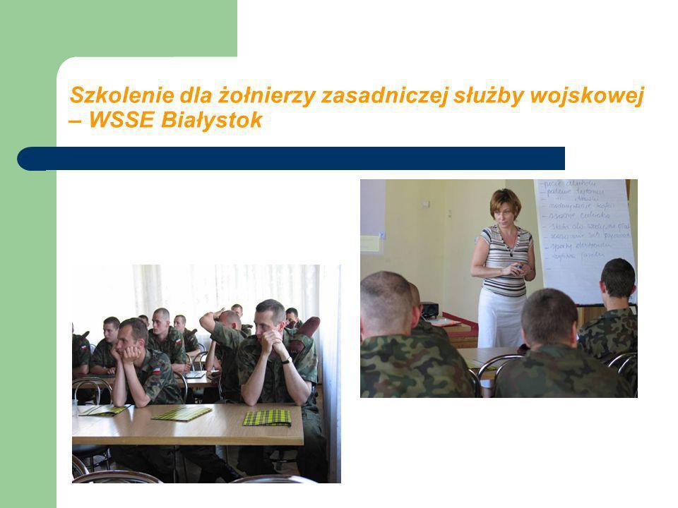 Szkolenie dla żołnierzy zasadniczej służby wojskowej – WSSE Białystok