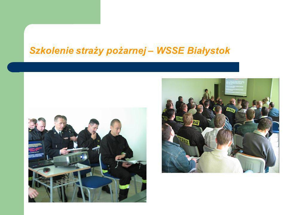 Szkolenie straży pożarnej – WSSE Białystok