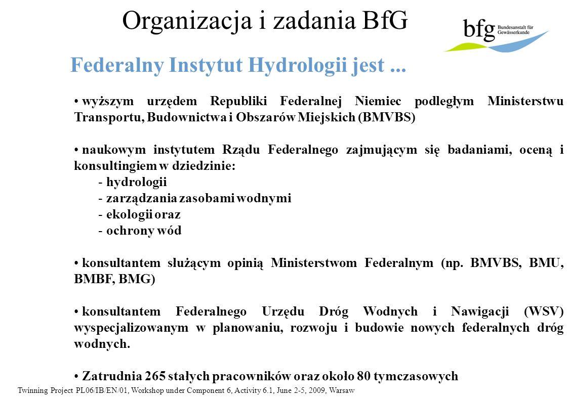 Twinning Project PL06/IB/EN/01, Workshop under Component 6, Activity 6.1, June 2-5, 2009, Warsaw Jak finansowane jest BfG...
