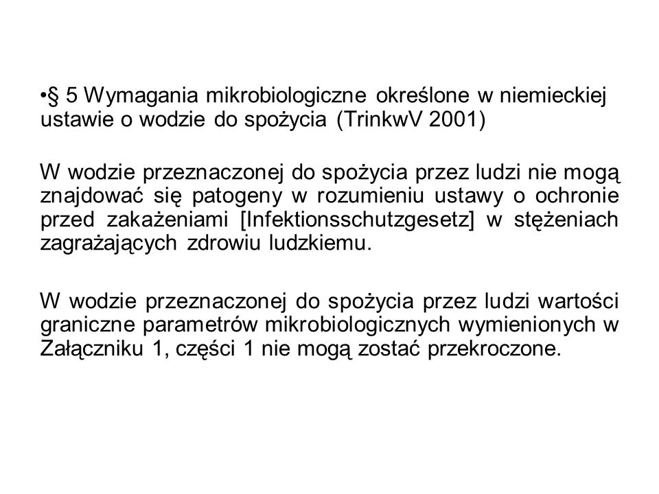 zakład produkcyjnykran konsumenta OSAD WODA BakterieBezkręgowce