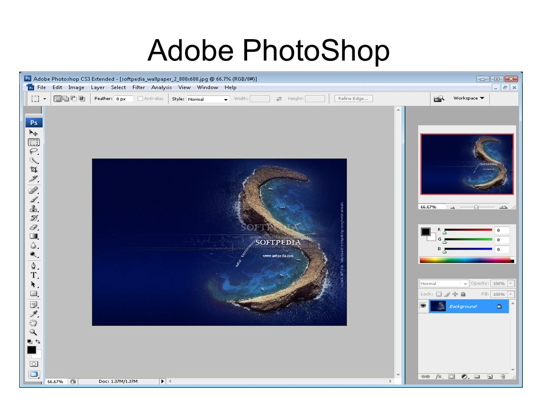 Opis Adobe PhotoShop a Adobe Photoshop – rozbudowany program graficzny przeznaczony do tworzenia i obróbki grafiki i jednocześnie flagowy produkt firmy Adobe Systems.