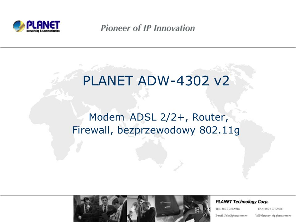 PLANET ADW-4302 v2 Modem ADSL 2/2+, Router, Firewall, bezprzewodowy 802.11g