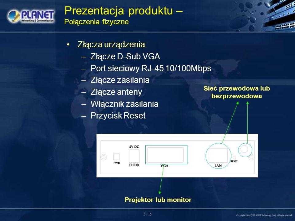 6 / 15 –Konfiguracja poprzez sieć.