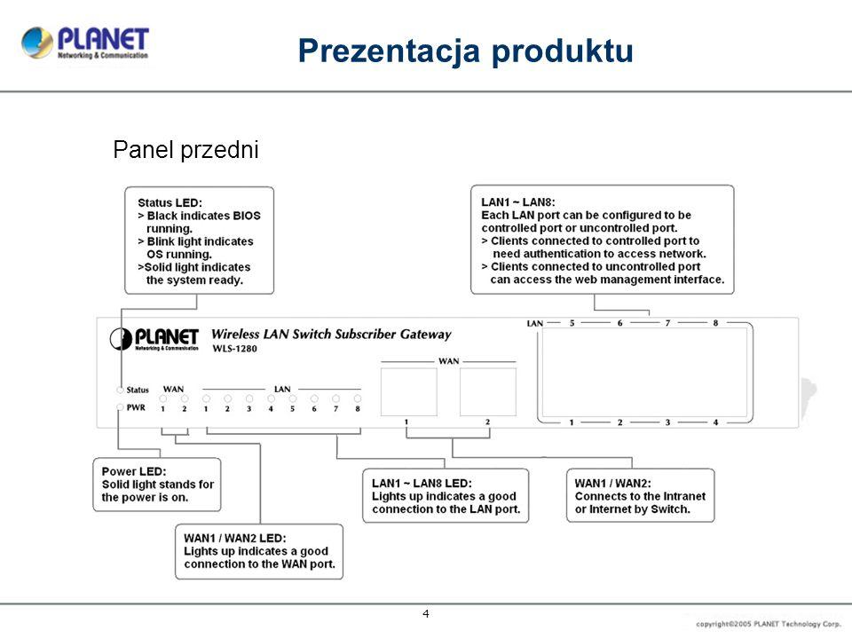 5 Prezentacja produktu Panel tylny