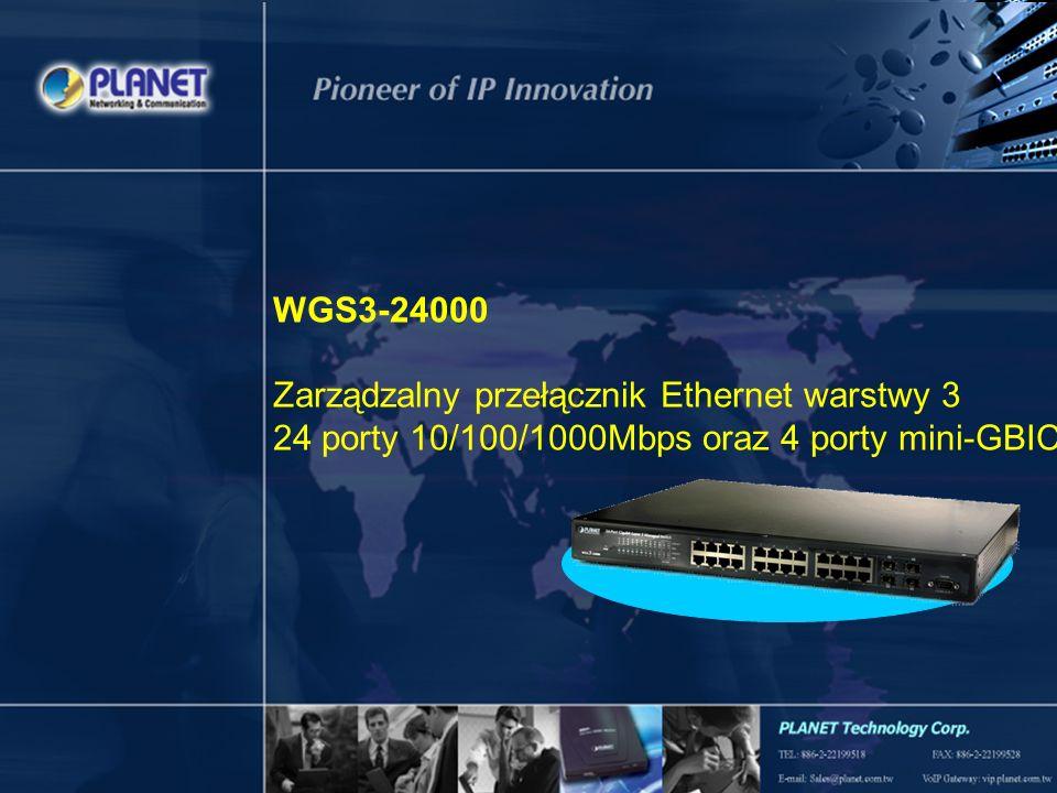 Podstawowe cechy Pełne zarządzanie poprzez konsolę –Interfejs linii poleceń dla Telnet/konsola –Bezpieczny dostęp poprzez SSH