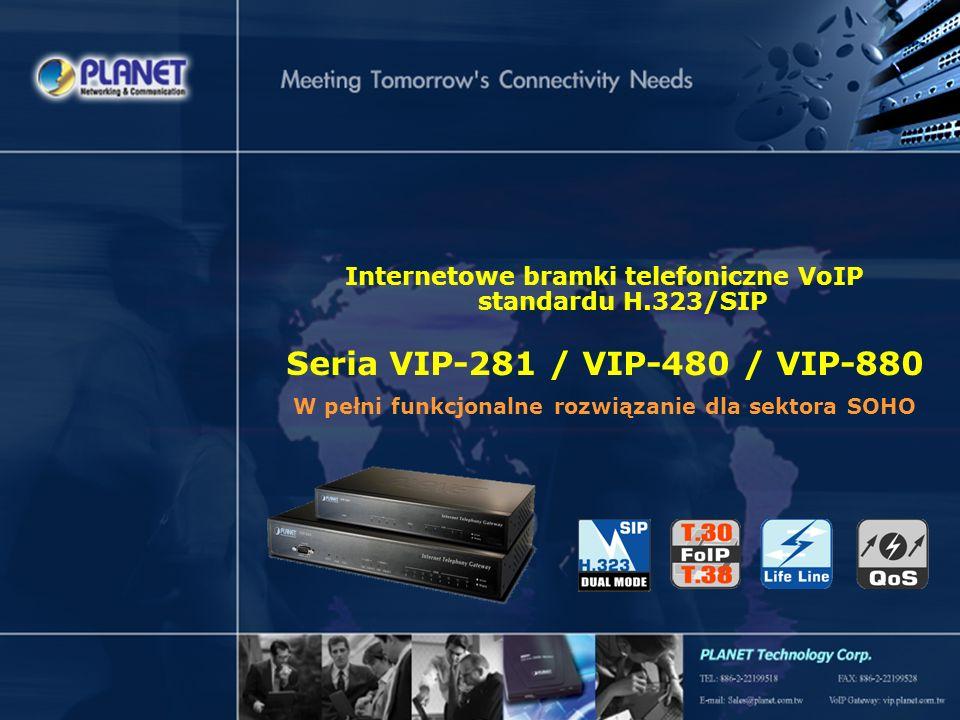 SG-VIP-281_480_880v1 Page 1 / 25 Internetowe bramki telefoniczne VoIP standardu H.323/SIP Seria VIP-281 / VIP-480 / VIP-880 W pełni funkcjonalne rozwi