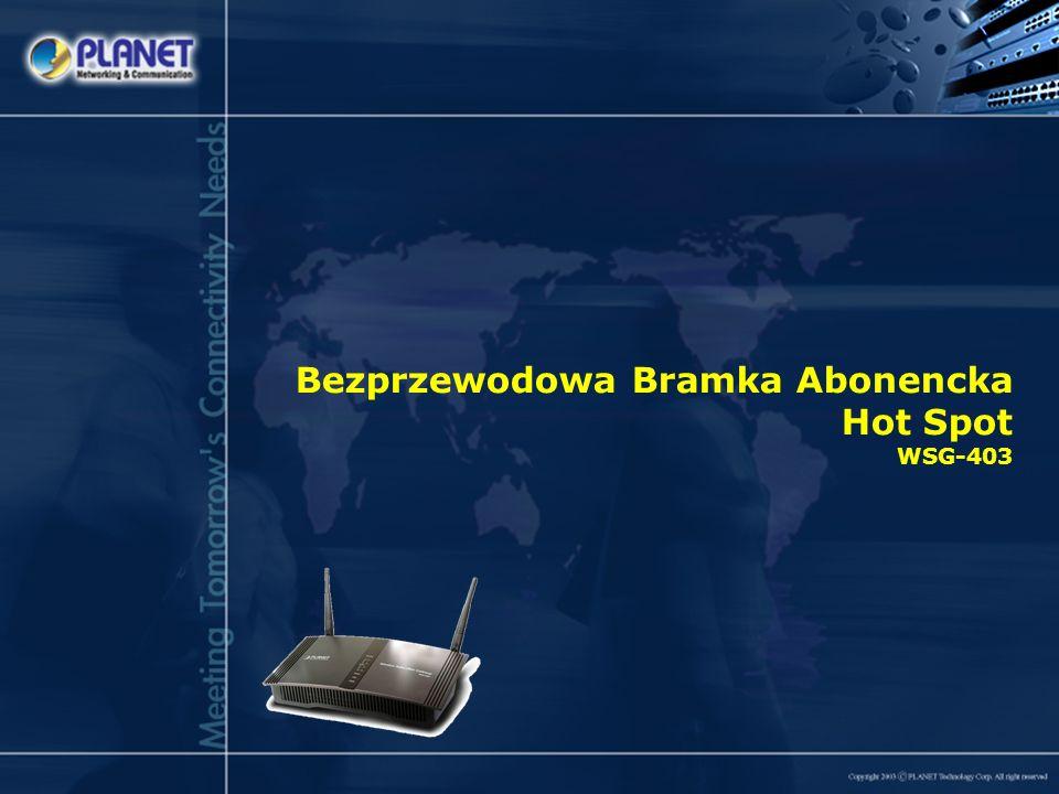 Bezprzewodowa Bramka Abonencka Hot Spot WSG-403