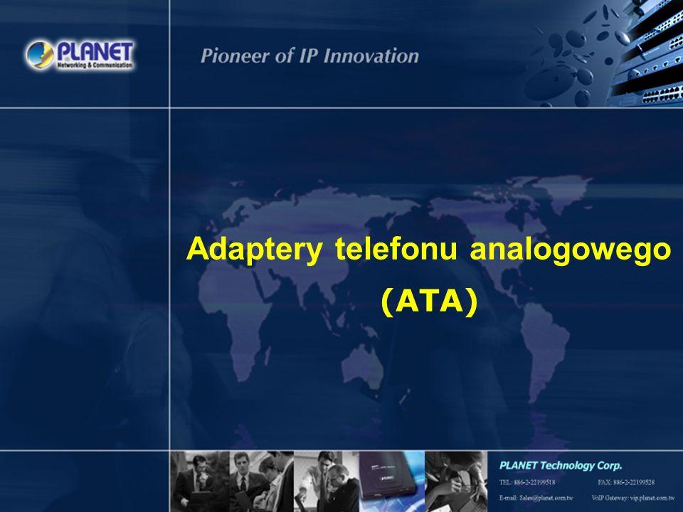 2 Spis treści Adaptery ATA Prognozy rynkowe Funkcje produktów Przeznaczenie