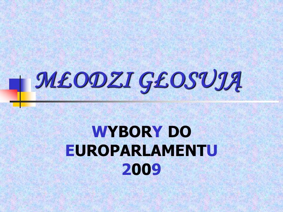 MŁODZI GŁOSUJĄ WYBORY DO EUROPARLAMENTU 2009
