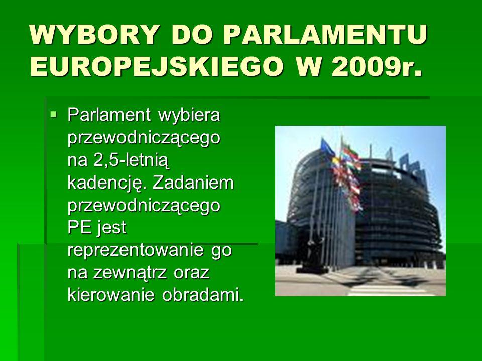 WYBORY DO PARLAMENTU EUROPEJSKIEGO W 2009r.