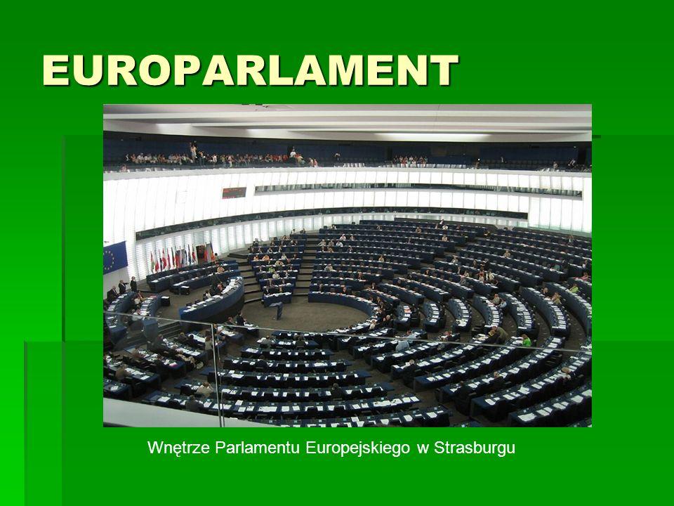 EUROPARLAMENT Wnętrze Parlamentu Europejskiego w Strasburgu