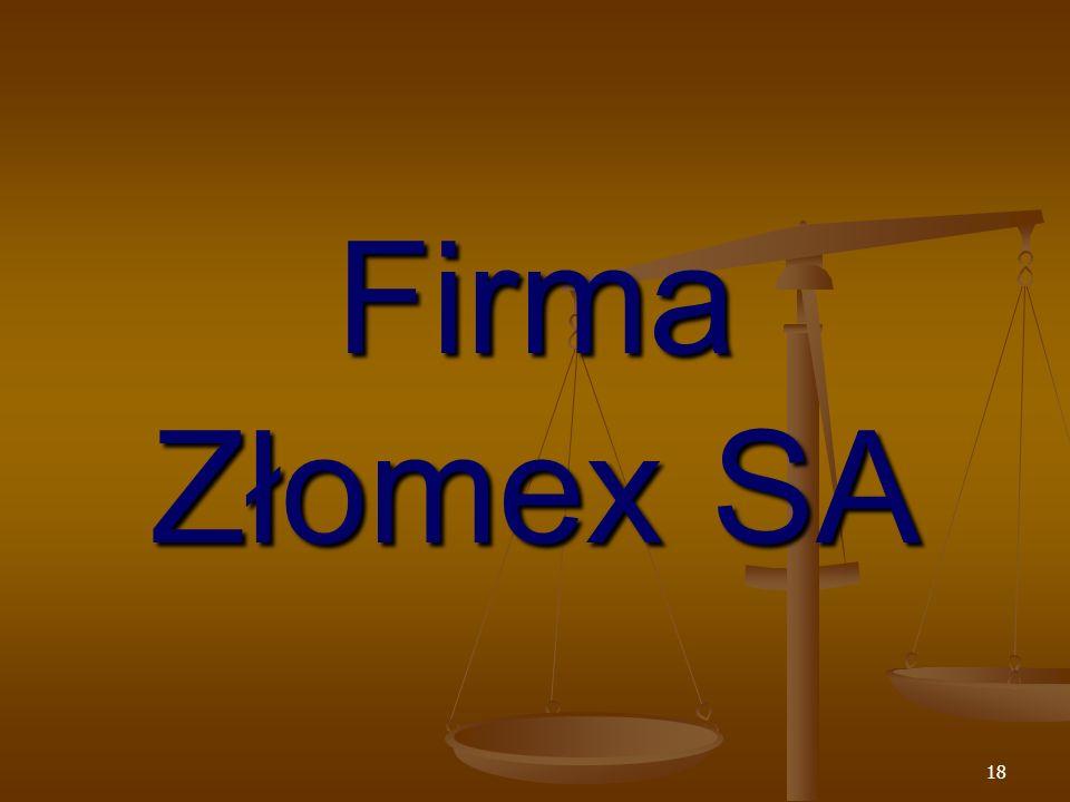 18 Firma Złomex SA
