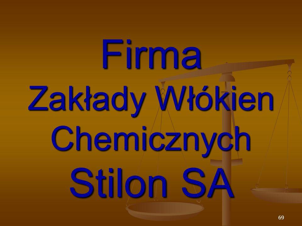 69 Firma Zakłady Włókien Chemicznych Stilon SA