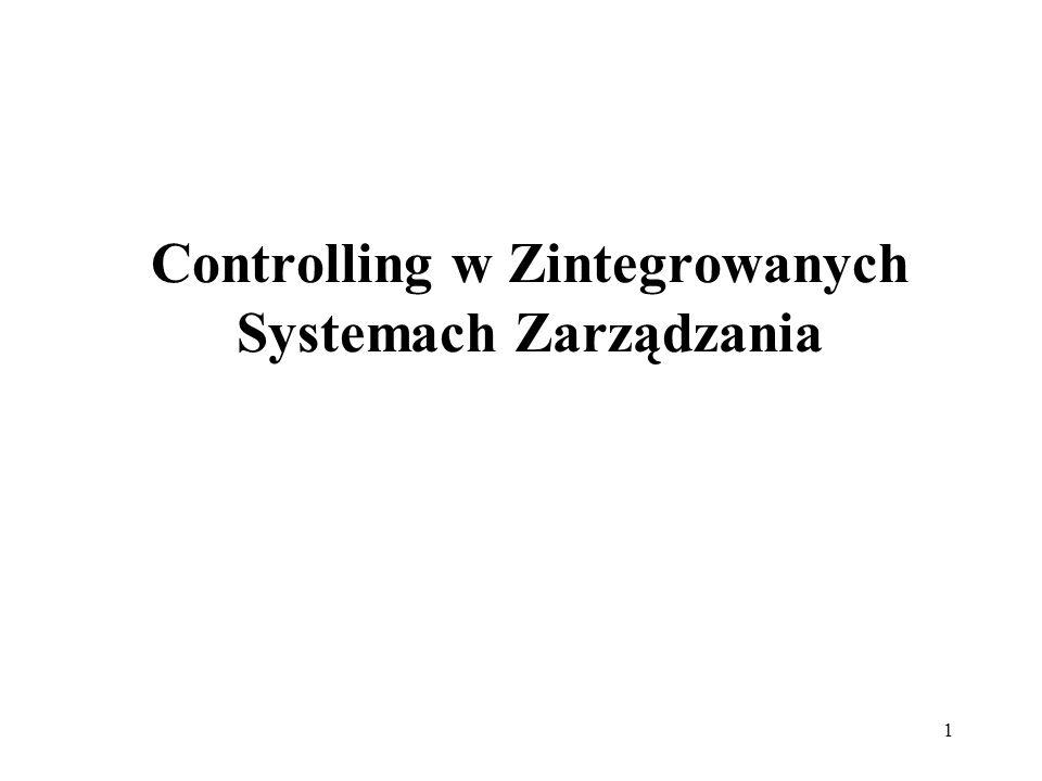 1 Controlling w Zintegrowanych Systemach Zarządzania