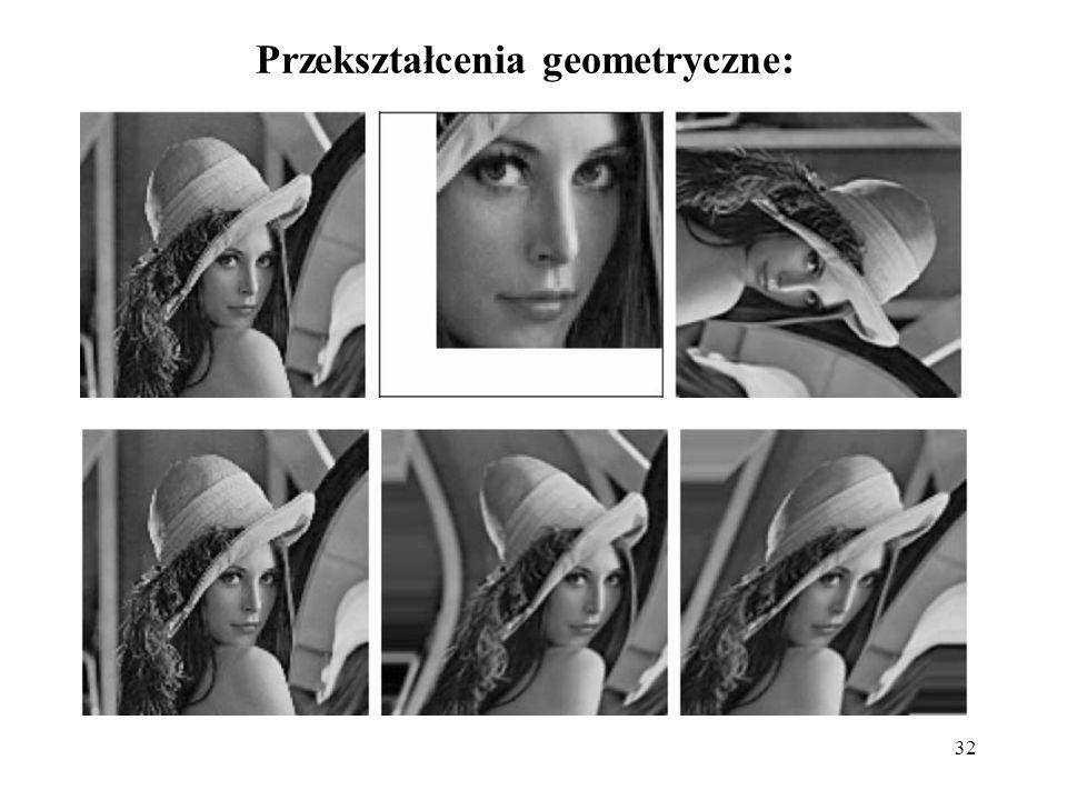 32 Przekształcenia geometryczne: