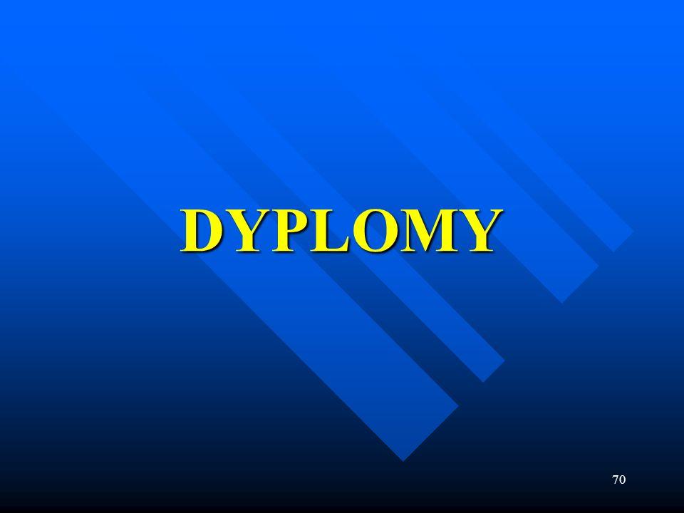 70 DYPLOMY