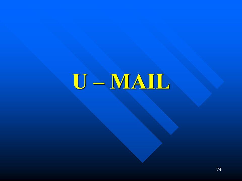 74 U – MAIL