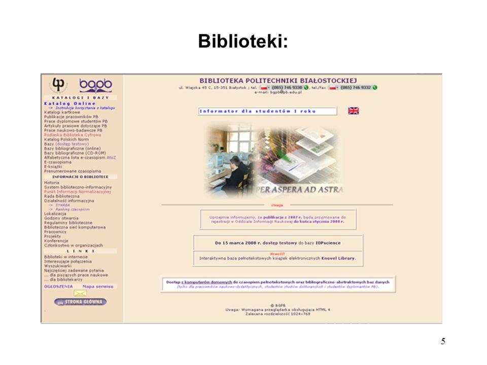 5 Biblioteki: