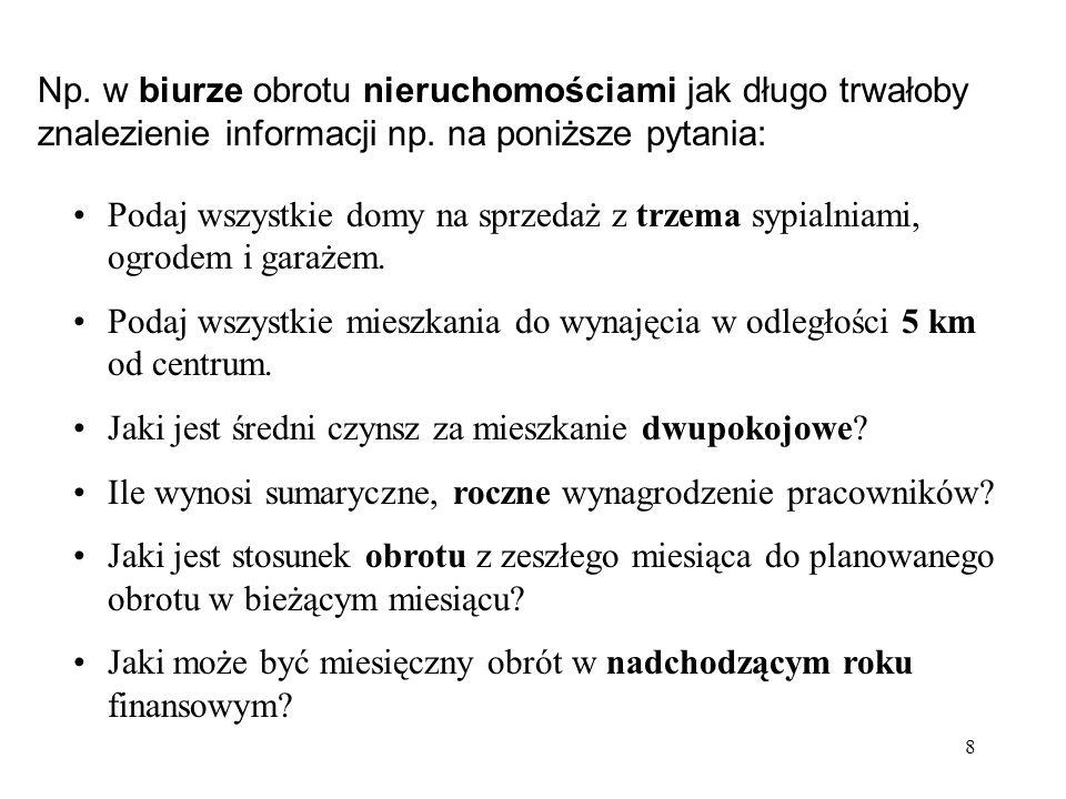 19 Literatura: 1.Podstawowy wykład z systemów baz danych – J.Ullman, J.Widom, WNT, 2001 2.Systemy baz danych :praktyczne metody projektowania, implementacji i zarządzania T.1 i 2 – T.Connolly, C.Begg, RM, Warszawa, 2004 3.Wprowadzenie do systemów baz danych – C.Date, WNT, 2000 4.Implementacja systemów baz danych – H.Garcia-Molina, J.Ullman, J.Widom, WNT, 2003 5.SQL: omówienie standardu języka – C.Date, H.Darwen, WNT, 2000 6.Projektowanie hurtowni danych : zarządzanie kontaktami z klientami (CRM) – C.Todman