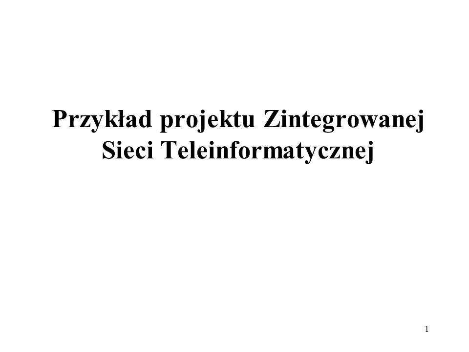 1 Przykład projektu Zintegrowanej Sieci Teleinformatycznej