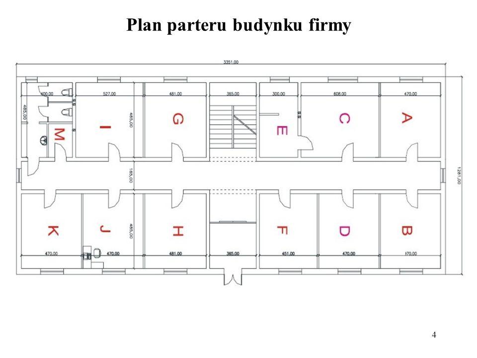 4 Plan parteru budynku firmy