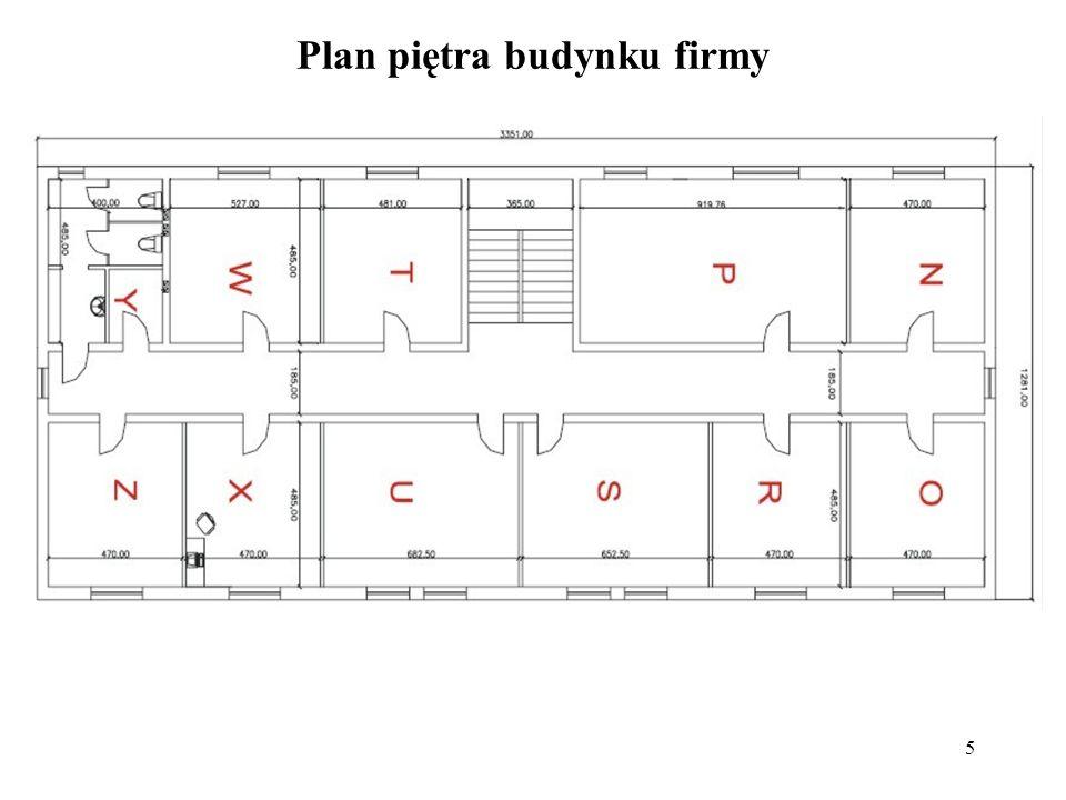 5 Plan piętra budynku firmy