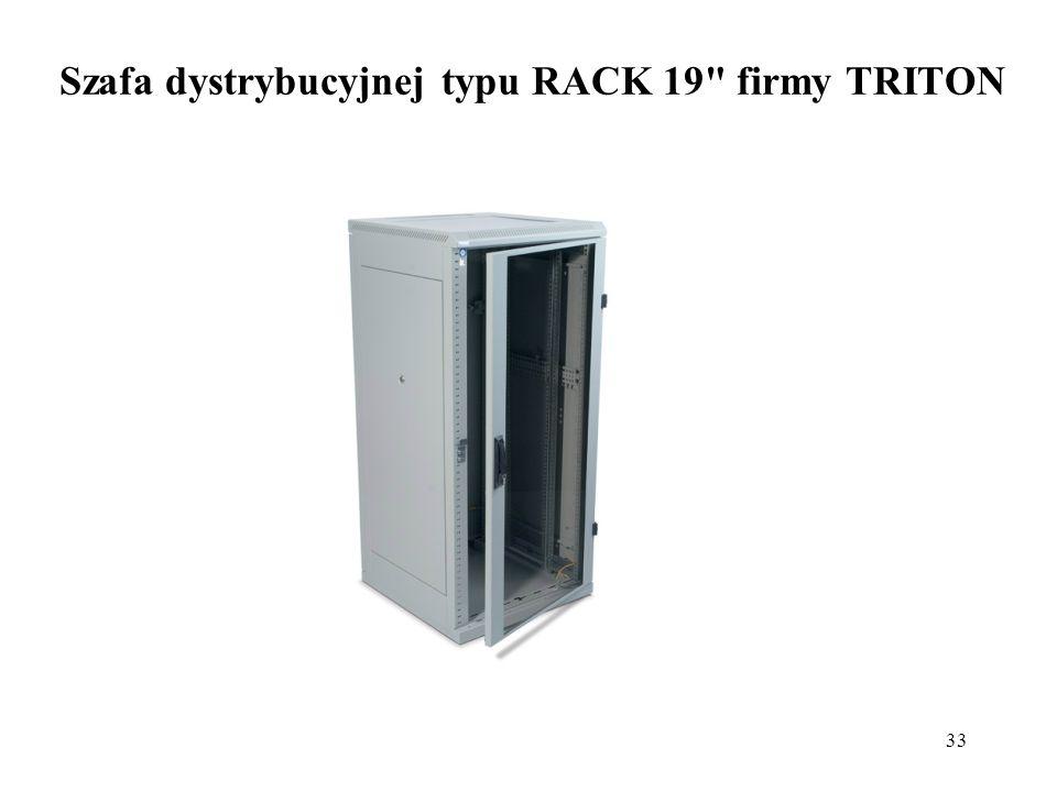33 Szafa dystrybucyjnej typu RACK 19 firmy TRITON