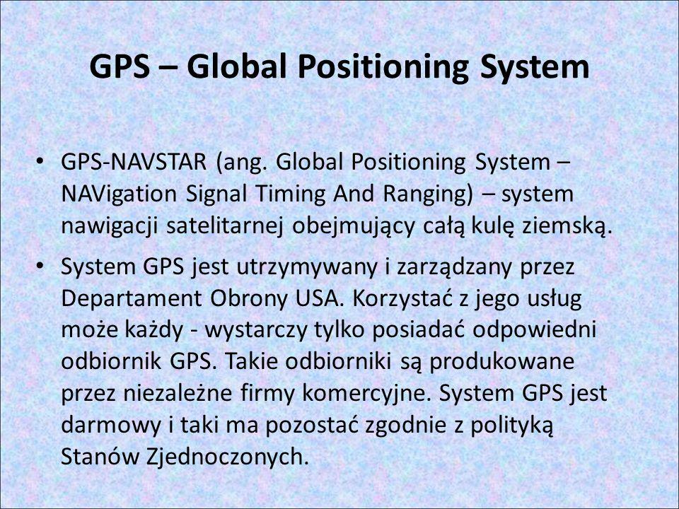 Przykłady zastosowań GPS odbiorniki GPS połączone z funkcją logowania danych - tzw.