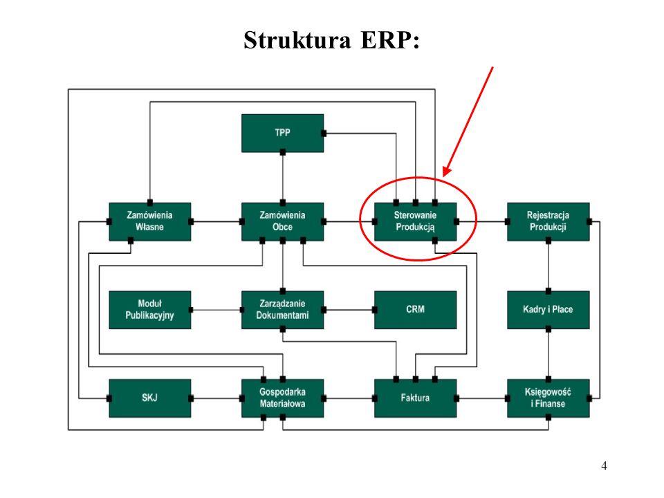 45 Parametry systemu oraz zleceń produkcyjnych wprowadzono do systemu planowania przepływu produkcji – SPPP.
