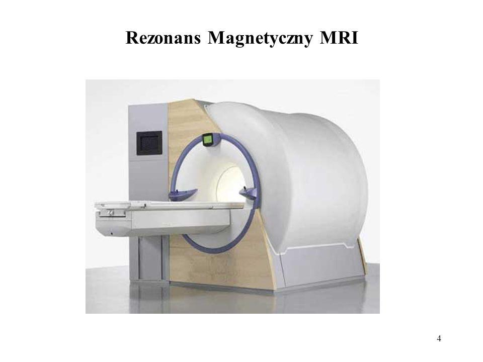 5 Nie można jednak badać pacjentów z: rozrusznikami serca, implantami słuchawkowymi, metalowymi klipsami naczyniowymi, endoprotezami oraz wszystkimi materiałami metalicznymi, które w polu magnetycznym mogą się przemieścić lub nagrzać i spowodować obrażenia sąsiadujących z nimi tkanek.