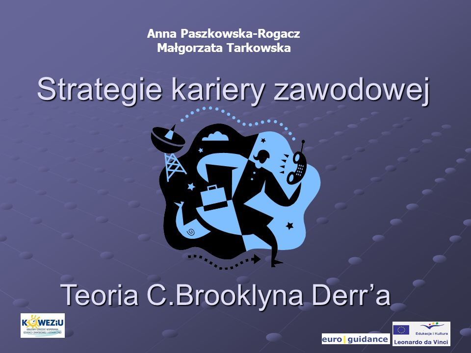 Strategie kariery zawodowej Teoria C.Brooklyna Derra Anna Paszkowska-Rogacz Małgorzata Tarkowska