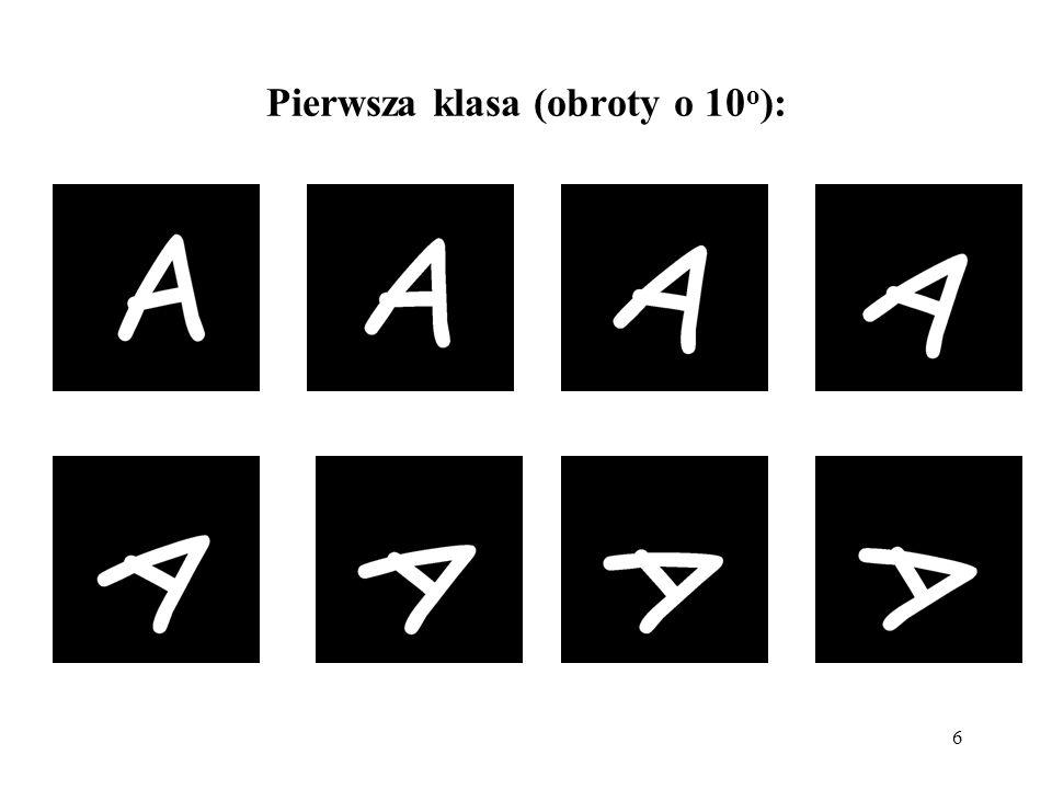 6 Pierwsza klasa (obroty o 10 o ):