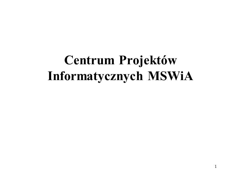 12 Poziom MSWiA Na poziomie centralnym wyróżniamy Centralną Szynę Integracyjną, na której wystawione są usługi poprzez które aplikacje gminne będą aktualizować rejestry centralne (RDO, PESEL, a w przyszłości CRASC).