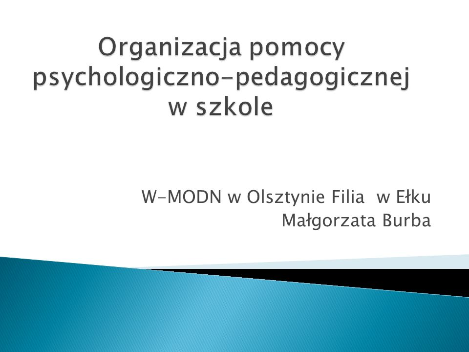 W-MODN w Olsztynie Filia w Ełku Małgorzata Burba