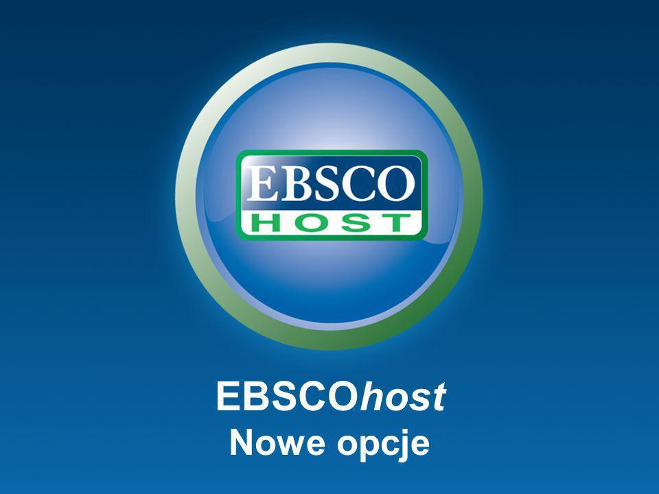 EBSCOhost Nowe opcje