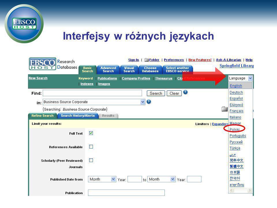 Interfejsy w różnych językach
