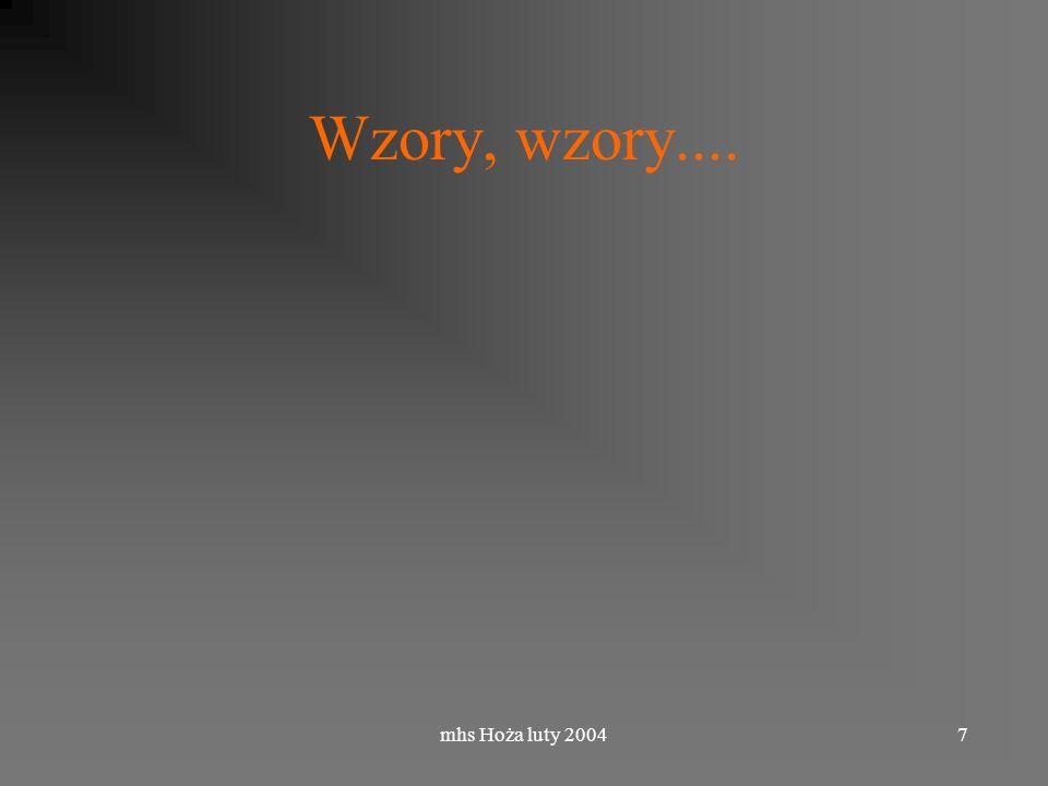 mhs Hoża luty 20047 Wzory, wzory....