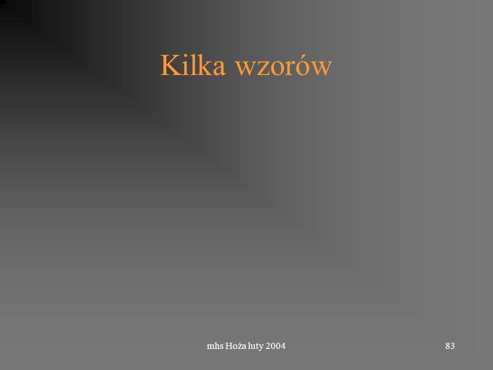 mhs Hoża luty 200483 Kilka wzorów