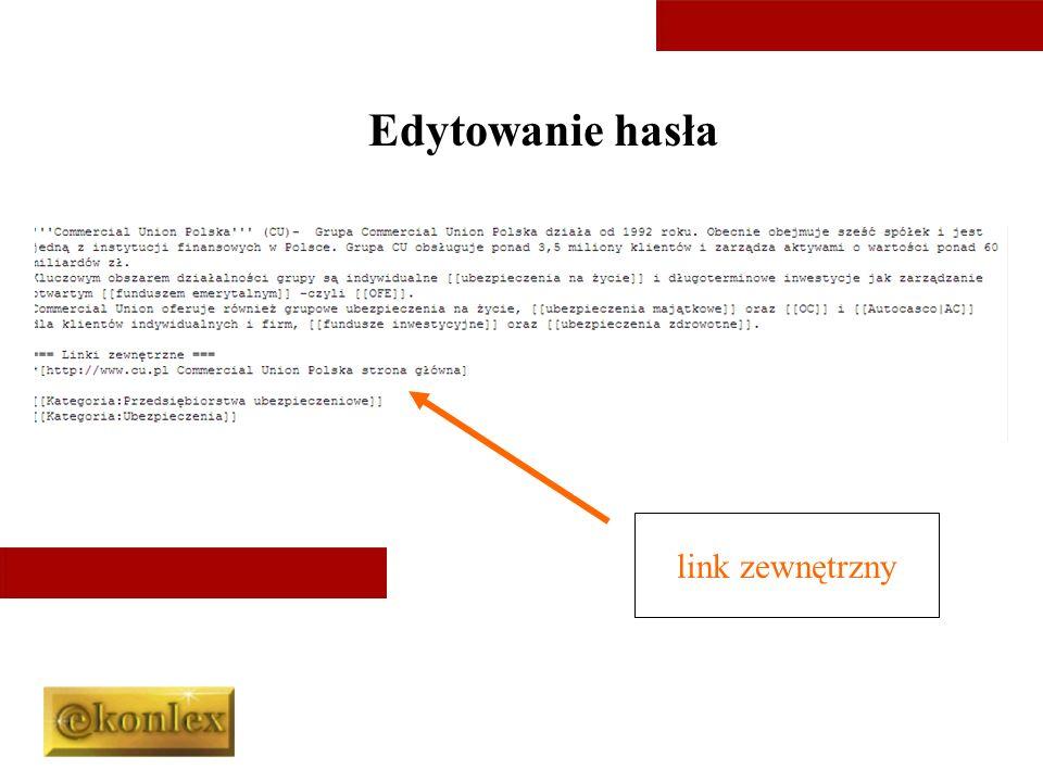Edytowanie hasła link zewnętrzny