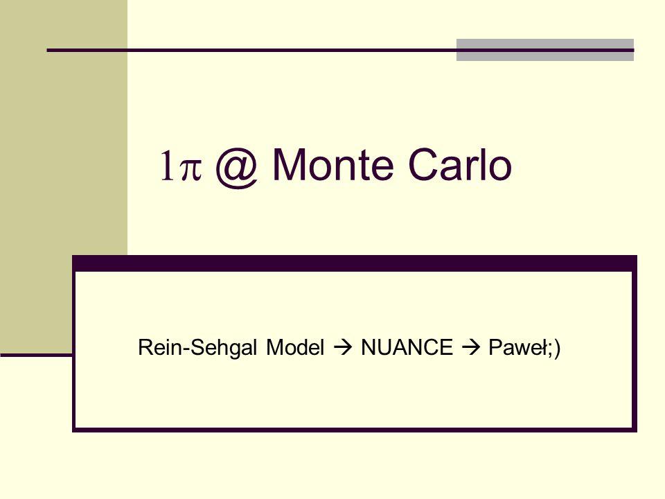 @ Monte Carlo Rein-Sehgal Model NUANCE Paweł;)