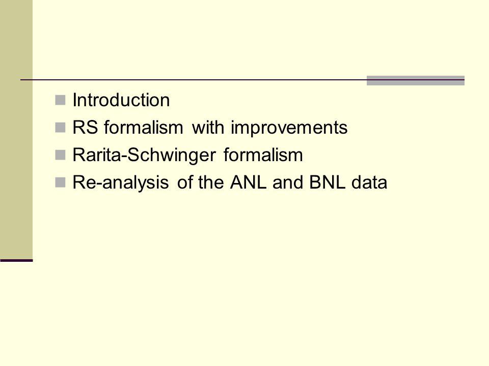 Rarita Schwinger Formalism Form Factors