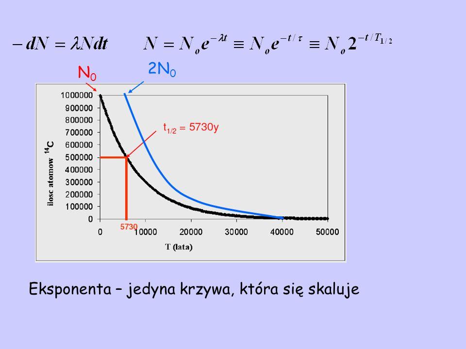 Eksponenta – jedyna krzywa, która się skaluje N0N0 2N 0