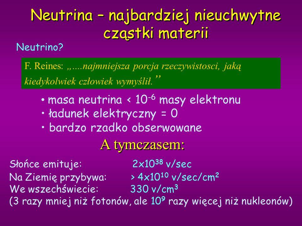 Neutrina – najbardziej nieuchwytne cząstki materii F.