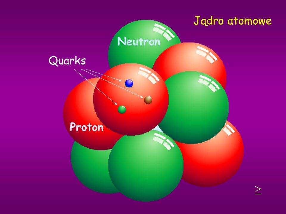Jądro atomowe Proton Neutron Quarks >