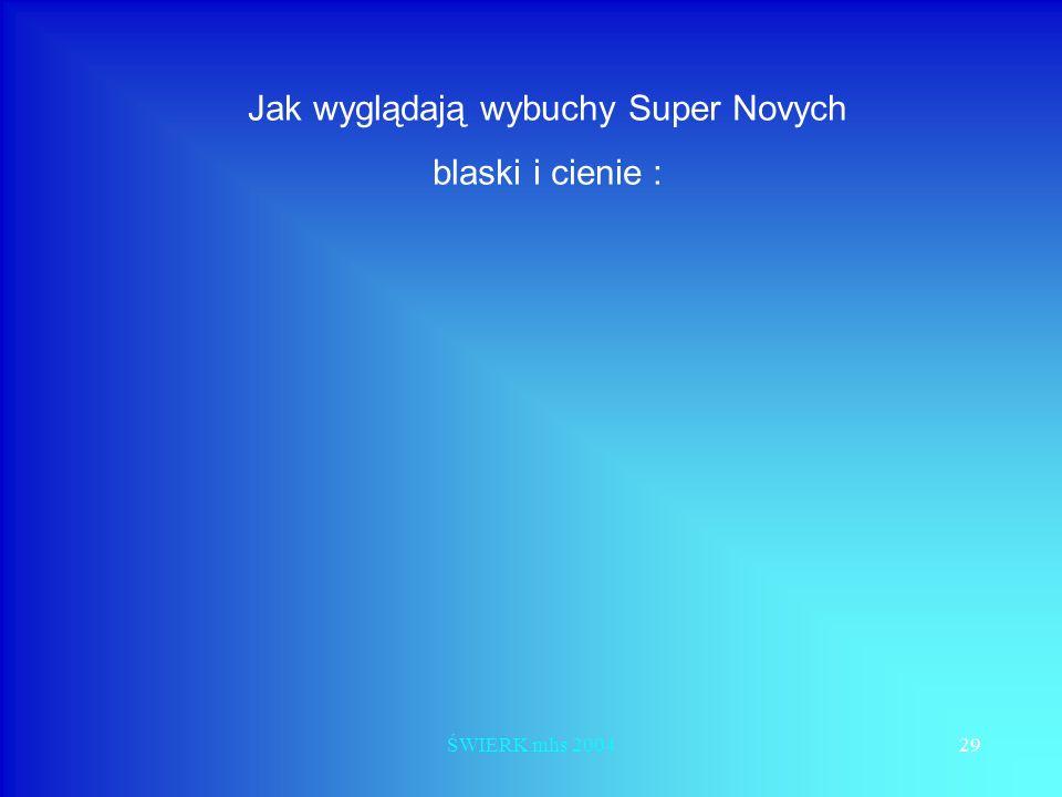 ŚWIERK mhs 200429 Jak wyglądają wybuchy Super Novych blaski i cienie :